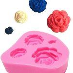 [B018Y22DZ0] 【シャルフィール】 薔薇 4つ 作成 シリコンモールド レジン 石鹸 ロウソク 紙 粘土 抜き 型 (薔薇 4タイプ 作成)