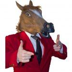[B0187NZ6R8] こんなに楽しい アニマルマスク 馬 リアル ホース サラブレッド 仮面 変装 お面 コスプレ 仮装 パーティー イベント 宴会 ハロウィン ホラーイベント ユニコーン
