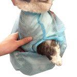 [B01AFQSNUW] 猫 おりこうさん ネコ ちゃん 用 多機能 洗浄 固定 バッグ 爪切り お風呂 などに (ブルー)