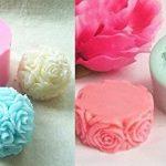 [B00SP1SG6Q] 【Ever garden】 立体 薔薇 2枚セット シリコンモールド 手作り 石鹸 キャンドル 粘土 バスボム レジン シリコン モールド 型 抜き型