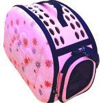 [B01DFFY5NY] おでかけ ペットキャリー バッグ 折りたたみ 式 コンパクト 収納 犬 猫 小動物 用 肉球 型押し ( ピンク )