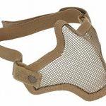 [B013K7JZGE] サバゲー フェイスガードマスク ハーフメッシュ マスク メッシュ 構造 で 通気性 抜群 ブラック グリーン 茶色 (茶色)