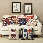 [B016D4IG3O] ange select クッション カバー 45x45cm 国旗 アメリカ イギリス 米国 英国 インテリア 雑貨 (LOVE)