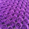 [B01BA9L8O6] バラ の造花 お花 花びら 紫 パープル 手作り アクセサリー ブーケ リース 花束