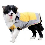 [B00SO3HLTS] 雨 雪の日もお散歩 愛犬レインコート 中型犬用 カラー/イエローグレー