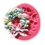 [B00ZYIIERY] 【Ever garden】 花輪 ブーケ 花 シリコンモールド 粘土 / レジン / シリコン モールド / 型 抜き型