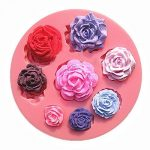 [B010MPXRX4] 【Ever garden】 バラ 8個 薔薇 シリコンモールド / 手作り 石鹸 / キャンドル / 粘土 / レジン / シリコン モールド / 型 抜き型