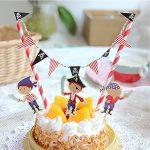 [B011IMM43E] ケーキに かわいい 飾りつけ グッズ( 誕生日 お祝い ホワイトデー バレンタイン クリスマス) 子供から大人まで (オレたち海賊編)