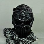 [B013B7E158] 選べる14種類 サバイバル ゲーム 用 マスク ブラック ホワイト ゴールド ドクロ サバゲー SK (エイリアン SI x BK)
