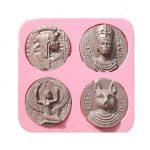 [B01D7U9UOQ] 【Ever garden】 エジプト コイン シリコンモールド / 手作り 石鹸 / 樹脂 粘土 / レジン / シリコン モールド / 型 抜き型 / キット 道具