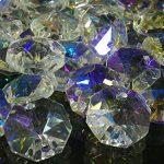 [B01ALNDHDW] レインボー 八角 クリスタル ガラス ビーズ 14mm 20mm サンキャッチャー 材料 パーツ シャンデリア インテリア (14mm100個セット)