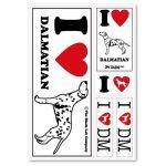 [B005DJJIX8] ザ・ブラックラブカンパニー I Love ステッカー / ダルメシアン /全66犬種!犬グッズ専門店 オリジナル 車 防水 シルエット