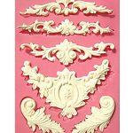 [B00UZNSUSG] 【Ever garden】 彫刻 ヨーロッパ調のデザイン シリコンモールド / アロマハイストーン 石膏 / 手作り 石鹸 / レジン / 樹脂 粘土 / 型 抜き型