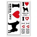 [B005DJJKRM] ザ・ブラックラブカンパニー I Love ステッカー / シバ / 柴犬 /全66犬種!犬グッズ専門店 オリジナル 車 防水 シルエット
