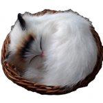 [B00KFD5XA4] 小さくて 超 リアル かわいい かご 猫 ねこ 【マイホット】 (寝る 耳黒猫)