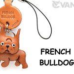 [B0030D34J8] 本革 携帯犬ストラップ プチワンチャン フレンチブルドッグ 【VANCA】【日本製、職人のハンドメイド】