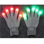 [B016YGXGUY] LED グローブ 7色 発光 手袋 スケルトン タイプ あり 野外 フェス クラブ で人気者に フリーサイズ (指先 7色発光 白)