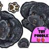 [B009328VSO] 犬ステッカー トイプードル96 ブラック シール