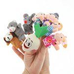 [B00YQQWT62] N-hilfe 大きなかぶ 指人形 家族 8本 セット かわいい 親子 パペット おもちゃ 子供 保育