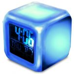 [B01B4KUVJY] 1stモール 【 七色に光る 】 卓上 LED 時計 リビング 寝室 照明 ST-MAGLOCK