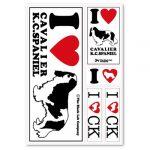 [B005DJJIEW] ザ・ブラックラブカンパニー I Love ステッカー / キャバリア /全66犬種!犬グッズ専門店 オリジナル 車 防水 シルエット