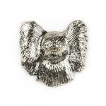 [B00L8U2W3O] パピヨン(フェイス) イギリス製 アート ドッグ ピンバッジ コレクション