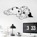 [B01CNM0J62] who's storeウォール ステッカー 壁紙 シール 可愛い犬 ユニーク 転写式 貼ってはがせる 大きめさのサイズ(プレセント付き)