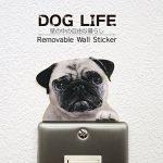 [B00SUS62AQ] ウォールステッカー DOG LIFE Color 「パグ」